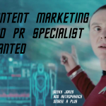 pr & Content marketing specialist job