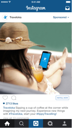 instagram for travel brands - traveloka example